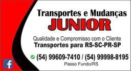 Mudanças-Fretes - Viagens. Junior