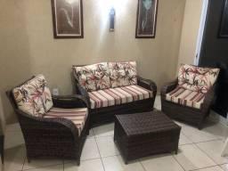 Poltrona/sofá de Junco para área externa/Gourmet
