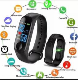 Pulseira inteligente smart band smartwatch iPhone Android WhatsApp