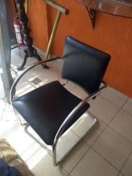 Cadeira escritório cromada