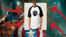 Camiseta Raglan Capitão América