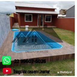 Linda casa com piscina em terreno de 250 metros
