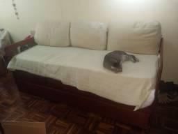 Sofá cama com gavetas