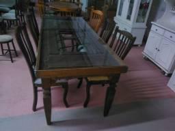 Mesa demolição com tampo de vidro