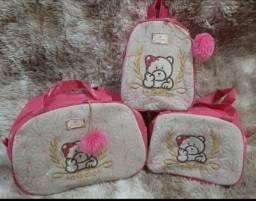 Kits de Bolsas para bebê com 3/4 peças.