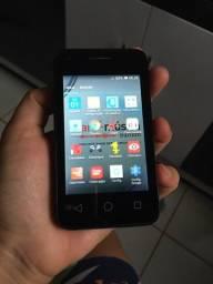 Celular Smartphone Alcatel 3G PIXI3 Preto - 4GB - 8MP - Android 5.1 Lollipop