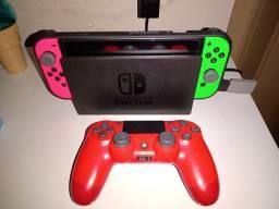 Nintendo Switch + Acessórios e Jogos
