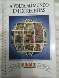 Livro de receitas A volta ao mundo em 120 receitas - União vol 2