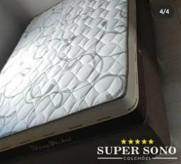 Conjunto Cama Box Sleep Pocket Ortosleep Casal 138x188 Mola Ensacada