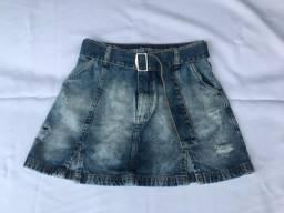 Saia Jeans Escura Nova