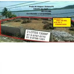 50 % Financiado. Praia de Atapuz Goiana-PE Oportunidade Única Ótimo Terreno Escriturado