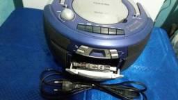 Rádio toca fitas