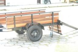 Carretinha Mista (Fazendinha) para triciclo, moto, bicicletas, etc.