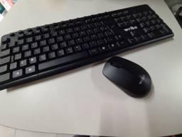 Teclado Wireless  e Mouse Wireless