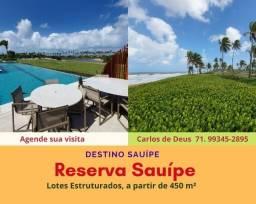 Reserva Sauípe:  lotes estruturados na Costa do Sauípe, venha realizar seu sonho