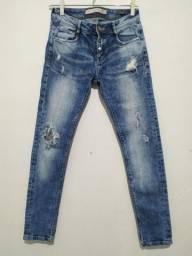(@brecho.dot) Calça Jeans Destroyed