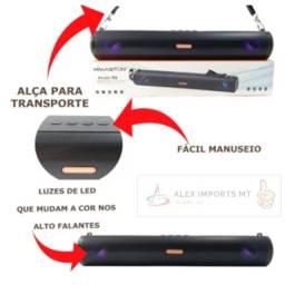 caixa de som portatil potente ótimo acabamento e durabilidade
