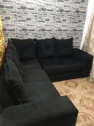 Sofá de canto com cinco lugares super confortável