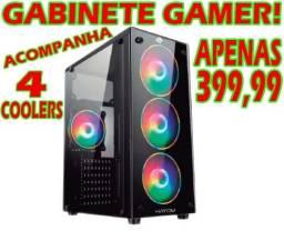 Gabinete Gamer (Companha Grátis 4 Cooler RGB!)