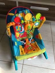 Cadeira descanso baby vibratório bebê  musical som e balanço