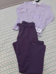 Calça + camisa feminina