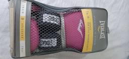 Luvas de boxe/muay thay Everlast pro style 14oz cor de rosa