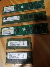 Memórias para Notebook e Desktop 1gb ou 2gb