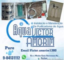 Instalação e manutenção em purificadores de agua
