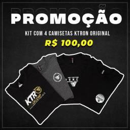 Kit com 4 camisetas novas originais Ktron