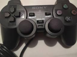 controle PS2 com fio novo pra video game console playstation 2 ps2