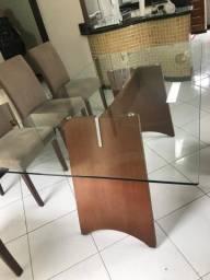 Vendo mesa com tampo de vidro 10 mm