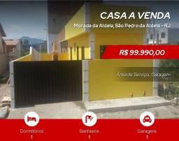 th@(Cód. SP1145)  Linda Casa de 1 Quarto em São Pedro da Aldeia
