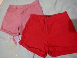 2 short jeans tamanho 40