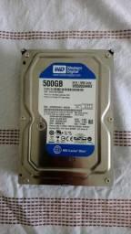 Título do anúncio: HD 500GB SATA WD (novo)