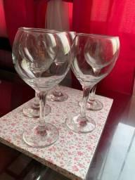 Jogo 5 taças de vinho