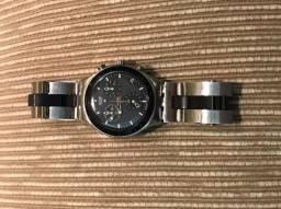 Relógio Swatch Irony Men's Black Dial Stainless Steel Band Watch - YCS410GX
