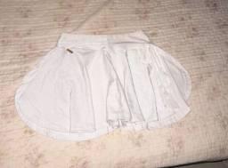short/saia branca veste 34/36/38