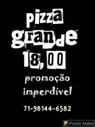 PROMOÇÃO IMBATÍVEL, PIZZA GRANDE APENAS 18,00.