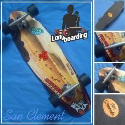 Skate Longboard gringo com shape em maple estado de novo.