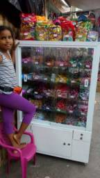 Vende Carrinho em vidro para doces e pipocas