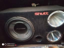 caixa de som + potencia Taramps