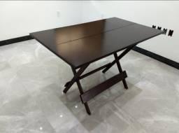 Jogo de mesa+cadeira (1,20x70) dobrável produto impermeável produzido com madeira de lei.