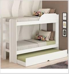 Título do anúncio: Cama modelo Beliche com cama Auxiliar - Produto NOVO direto da fábrica