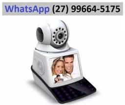 Babá Eletrônica Com Tela e Teclado Câmera Video Monitoramento Wifi Visão Noturna Microfone