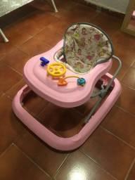 Andador Infantil de Bebê Rosa Tutty Baby