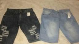 Bermuda Jeans e Short Moletom
