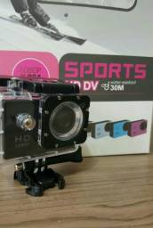 Câmera esportiva à prova d'água c/ acessórios Full HD 1080P SPORTS YouTube
