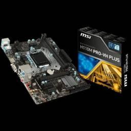Placa mãe MSI H110M PRO-VH Plus, DDR4, Soquete 1151