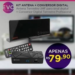 Kit antena + Conversor digital