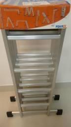 Escada em alumínio 16 degraus